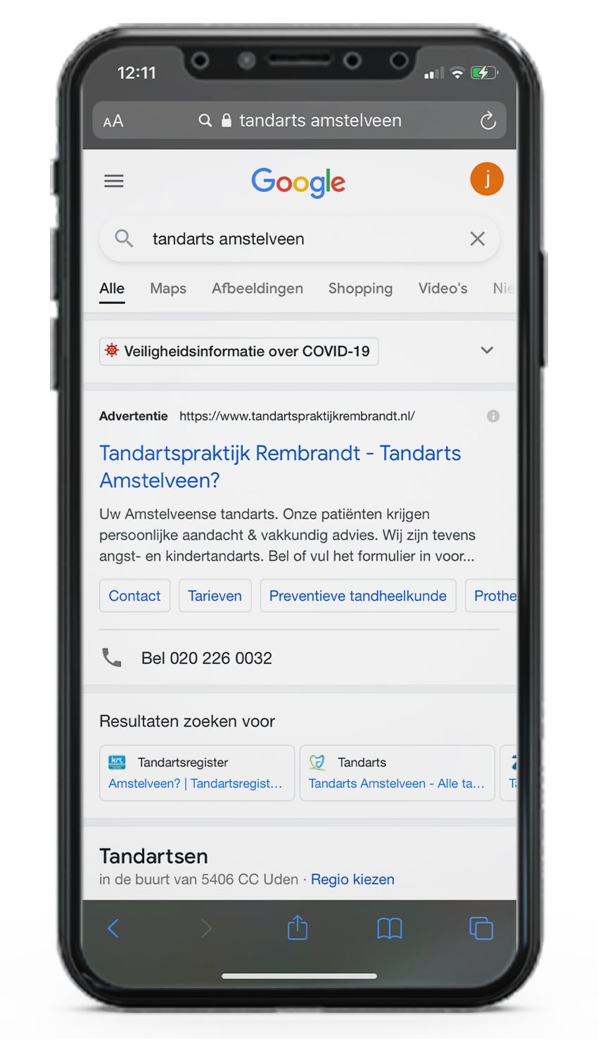 Tandarts Google