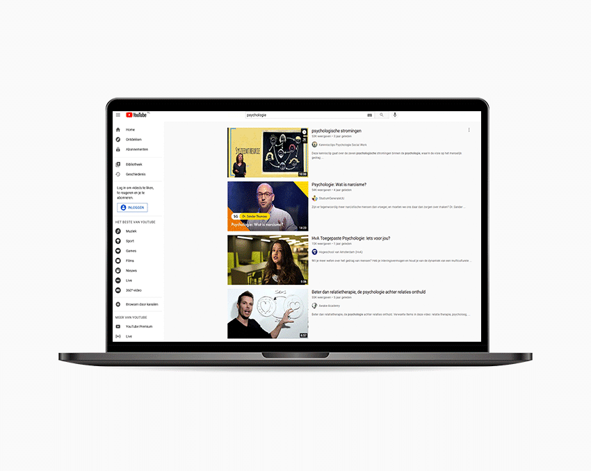Youtube psychologie