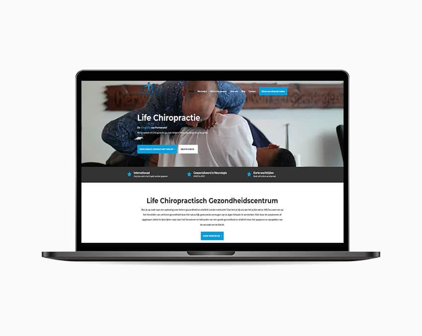 Website template chiropractor